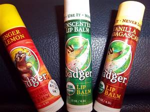 Badger Balm - Lip Balm - (various flavours)