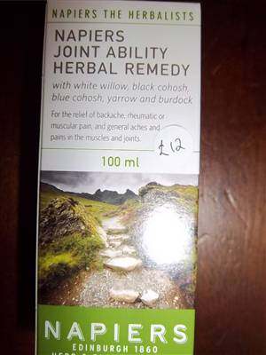 Napiers Joint Ability Herbal Remedy, CURRENTLY OUT OF STOCK