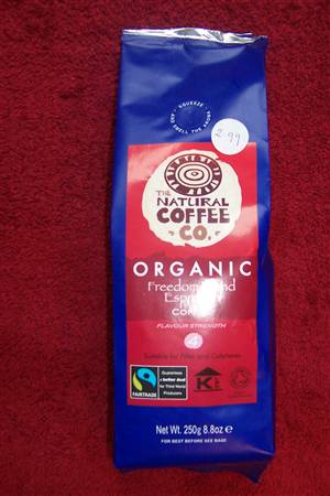 Espresso Organic Fairtrade Coffee - currently out of stock