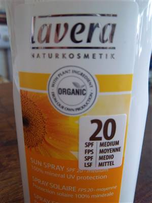 Lavera Sunscreen SPF 20 SPRAY
