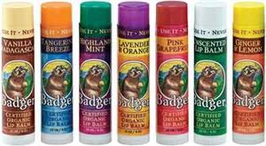 Badger Balm - Lip Balm - (various flavours)